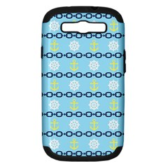 Anchors & Boat Wheels Samsung Galaxy S Iii Hardshell Case (pc+silicone) by StuffOrSomething