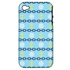 Anchors & Boat Wheels Apple Iphone 4/4s Hardshell Case (pc+silicone) by StuffOrSomething