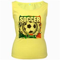 Soccer South Africa Women s Yellow Tank Top by MegaSportsFan