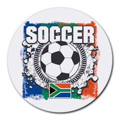 Soccer South Africa Round Mousepad by MegaSportsFan
