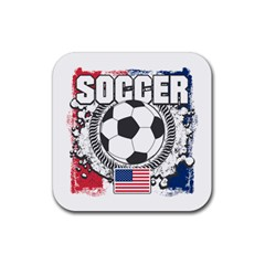 Soccer United States Of America Rubber Coaster (square) by MegaSportsFan