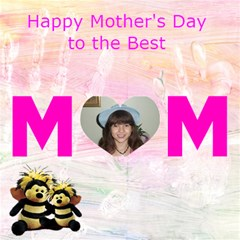 Mom And Child s Hand Print Mother s Day Card By Kim Blair   Mom 3d Greeting Card (8x4)   8at64mnmzwt1   Www Artscow Com Inside