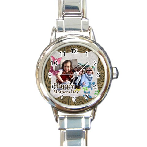 Mothers Day By Mom   Round Italian Charm Watch   Zwc8qso1f2n8   Www Artscow Com Front