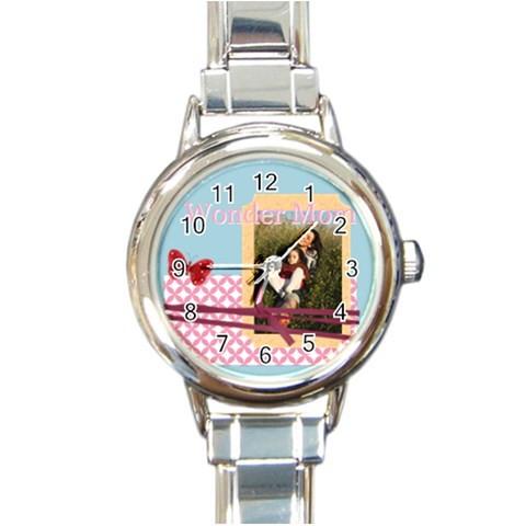 Mothers Day By Mom   Round Italian Charm Watch   46bnd4xmsng5   Www Artscow Com Front