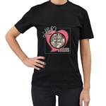 Mom Tee Shirt - Women s T-Shirt (Black) (Two Sided)