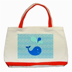 Playing In The Waves Classic Tote Bag (Red) by StuffOrSomething