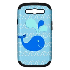 Playing In The Waves Samsung Galaxy S Iii Hardshell Case (pc+silicone) by StuffOrSomething