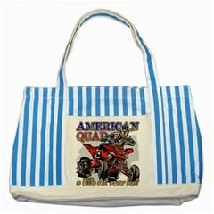 American Quad Striped Blue Tote Bag by MegaSportsFan