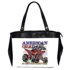 American Quad Oversize Office Handbag (two Sides) by MegaSportsFan