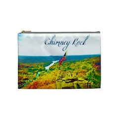 Chimney Rock Overlook Air Brushed Cosmetic Bag (medium) by Majesticmountain
