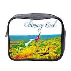 Chimney Rock Overlook Air Brushed Mini Travel Toiletry Bag (two Sides) by Majesticmountain
