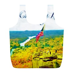 Chimney Rock Overlook Air Brushed Reusable Bag (l) by Majesticmountain