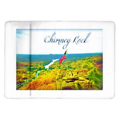 Chimney Rock Overlook Air Brushed Samsung Galaxy Tab 10 1  P7500 Flip Case by Majesticmountain