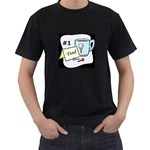 #1 Dad shirt, 2 sides - Men s T-Shirt (Black) (Two Sided)