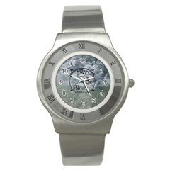 Once Upon A Time Stainless Steel Watch (slim) by StuffOrSomething