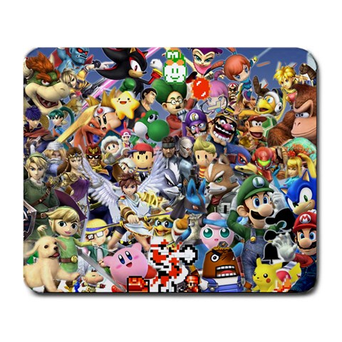 Mouse Pad: Super Smash Bros By Dakota   Large Mousepad   A716s8cg2v4s   Www Artscow Com Front
