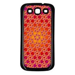 Radial Flower Samsung Galaxy S3 Back Case (black) by SaraThePixelPixie