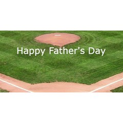 Baseball Fathers Day Card By Kim Blair   Twin Heart Bottom 3d Greeting Card (8x4)   La2lydcvkth5   Www Artscow Com Front