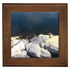 Atlantic Ocean Framed Ceramic Tile by DmitrysTravels