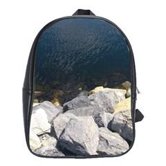 Atlantic Ocean School Bag (large) by DmitrysTravels