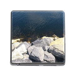 Atlantic Ocean Memory Card Reader With Storage (square) by DmitrysTravels