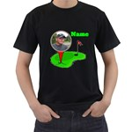 Black Golf shirt, 2 sides - Men s T-Shirt (Black) (Two Sided)