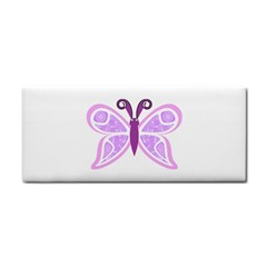 Whimsical Awareness Butterfly Hand Towel by FunWithFibro