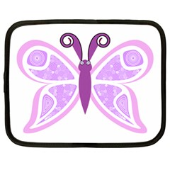 Whimsical Awareness Butterfly Netbook Sleeve (XL) by FunWithFibro