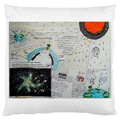Neutrino Gravity, Large Cushion Case (single Sided)  by creationtruth