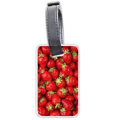 Strawberries Luggage Tag (Two Sides) by SonderSkySecond