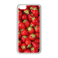 Strawberries Apple Iphone 5c Seamless Case (white) by SonderSkySecond