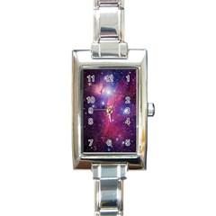 Galaxy Purple Rectangular Italian Charm Watch by SonderSkySecond