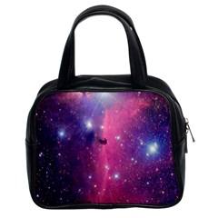 Galaxy Purple Classic Handbag (two Sides) by SonderSkySecond