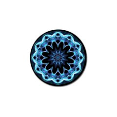 Crystal Star, Abstract Glowing Blue Mandala Golf Ball Marker 10 Pack by DianeClancy