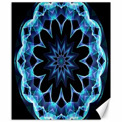 Crystal Star, Abstract Glowing Blue Mandala Canvas 8  X 10  (unframed) by DianeClancy