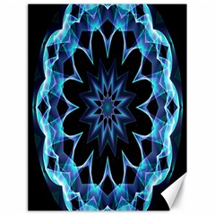 Crystal Star, Abstract Glowing Blue Mandala Canvas 18  X 24  (unframed) by DianeClancy