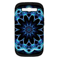 Crystal Star, Abstract Glowing Blue Mandala Samsung Galaxy S Iii Hardshell Case (pc+silicone) by DianeClancy