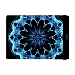Crystal Star, Abstract Glowing Blue Mandala Apple Ipad Mini Flip Case by DianeClancy