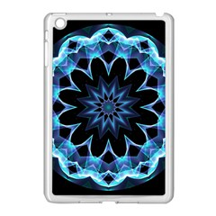 Crystal Star, Abstract Glowing Blue Mandala Apple Ipad Mini Case (white) by DianeClancy
