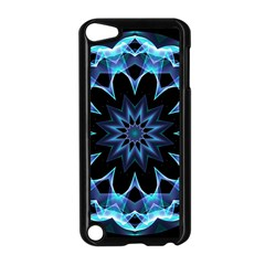 Crystal Star, Abstract Glowing Blue Mandala Apple Ipod Touch 5 Case (black) by DianeClancy