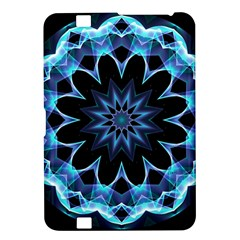 Crystal Star, Abstract Glowing Blue Mandala Kindle Fire Hd 8 9  Hardshell Case by DianeClancy
