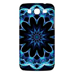 Crystal Star, Abstract Glowing Blue Mandala Samsung Galaxy Mega 5 8 I9152 Hardshell Case  by DianeClancy