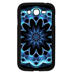 Crystal Star, Abstract Glowing Blue Mandala Samsung Galaxy Grand Duos I9082 Case (black) by DianeClancy