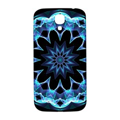 Crystal Star, Abstract Glowing Blue Mandala Samsung Galaxy S4 I9500/i9505  Hardshell Back Case by DianeClancy