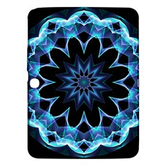 Crystal Star, Abstract Glowing Blue Mandala Samsung Galaxy Tab 3 (10 1 ) P5200 Hardshell Case  by DianeClancy