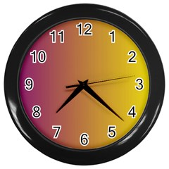 Tainted  Wall Clock (black) by Colorfulart23