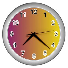 Tainted  Wall Clock (Silver) by Colorfulart23