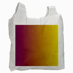 Tainted  White Reusable Bag (two Sides) by Colorfulart23