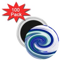 Abstract Waves 1 75  Button Magnet (100 Pack) by Colorfulart23
