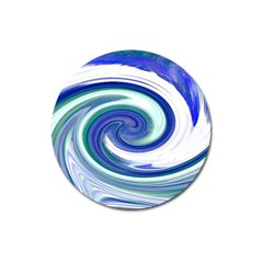 Abstract Waves Magnet 3  (round) by Colorfulart23
